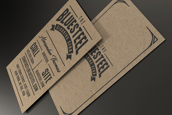 typography kraft paper business card business card templates creative market - Rustic Business Cards
