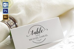 Place Card Template WPC420