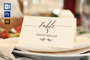 Place Card Template WPC421