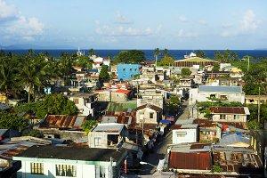 Legaspi city slums daytime view