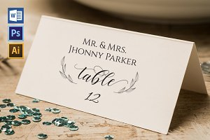 Place Card Template WPC423