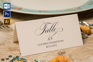 Place Card Template WPC424
