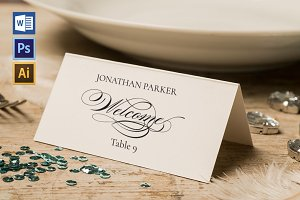 Place Card Template WPC425