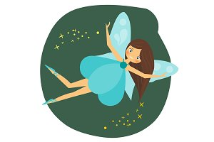 Cute flying fairy