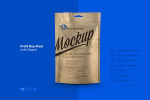 Kraft Doy-Pack with Zipper