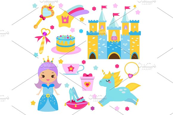 Princess World Stickers Icons