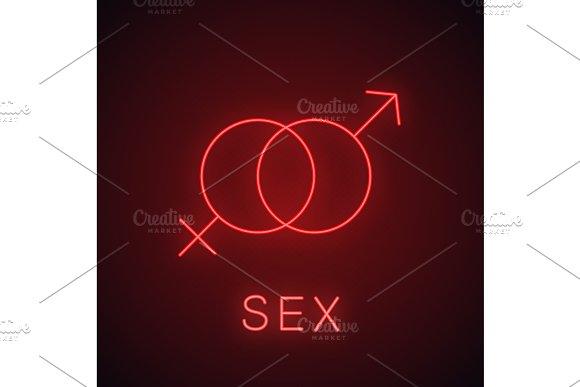Sex Neon Light Icon
