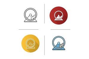 Hamster wheel icon
