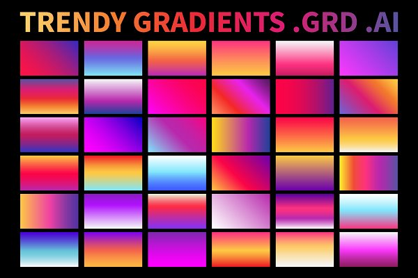 Trendy Gradients .AI .GRD