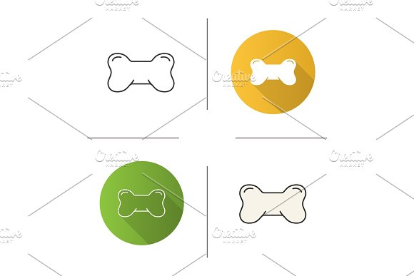 Dog's Bone Toy Icon