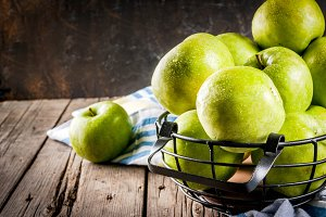 Fresh farm green apples