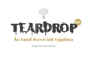 Teardrop typeface