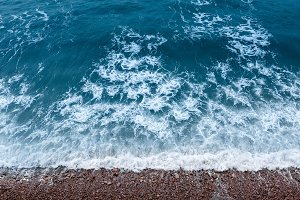 Waves Swim To The Rocky Shore, NAtur
