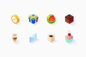 Isometric Social Icons Set