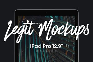 "40 iPad Pro 12.9"" mockups"