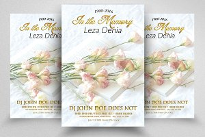 Funeral Program Flyer Templates