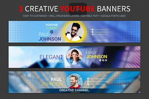 3 Creative youtube banners
