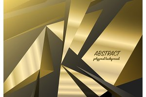 Abstract polygonal background, triangles mosaic, geometric texture, business card for the website, black crystals backdrop.