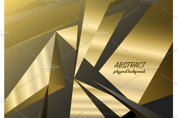 Abstract Polygonal Background Triangles Mosaic Geometric Texture Business Card For The Website Black Crystals Backdrop