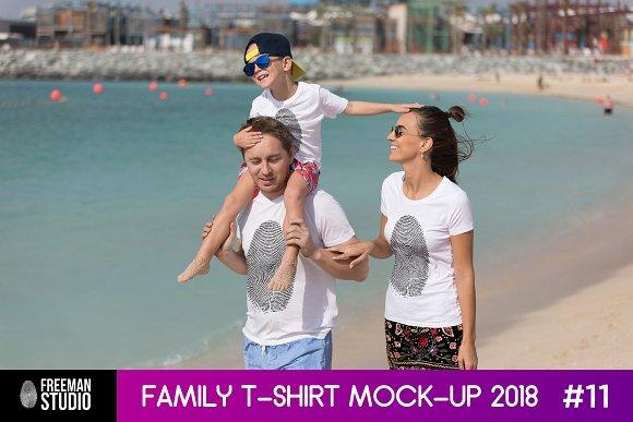 Family T-Shirt Mock-Up 2018 #11