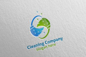 Cleaning Service Eco Friendly Logo 4