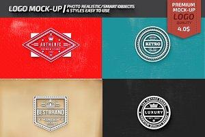 4 Logos Mockup Design
