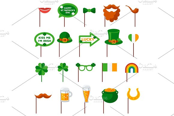 Saint Patrick's Day Photo Booth Elements