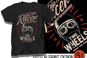 Vector race t-shirt print