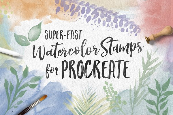 Watercolor Stamps for Procreate