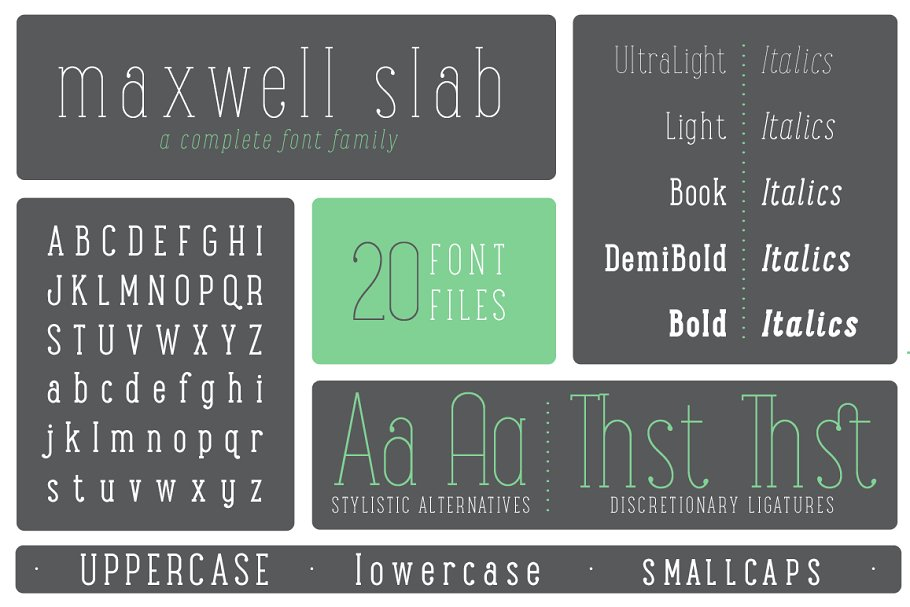 Maxwell Slab Intro Sale ~ Slab Serif Fonts ~ Creative Market