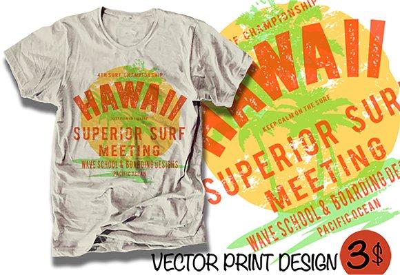 Surf Illustration Print