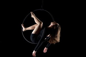 Aerial dancer woman