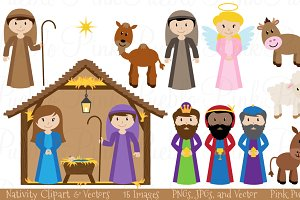 Christmas Nativity Clipart & Vectors