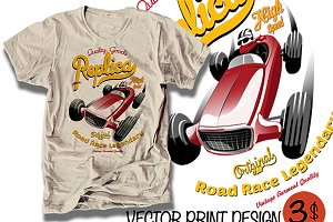Vector race car illustration
