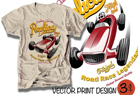 Vector Race Car Illustration
