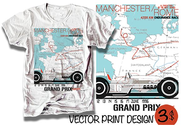 Grand Prix Race Car Europe Print