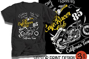 Vector cafe racer illustration