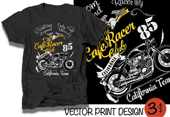 Vector Cafe Racer Illustration