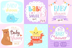 Baby shower party cute invite card