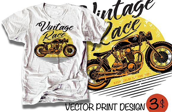 Motorbike T-shirt Print