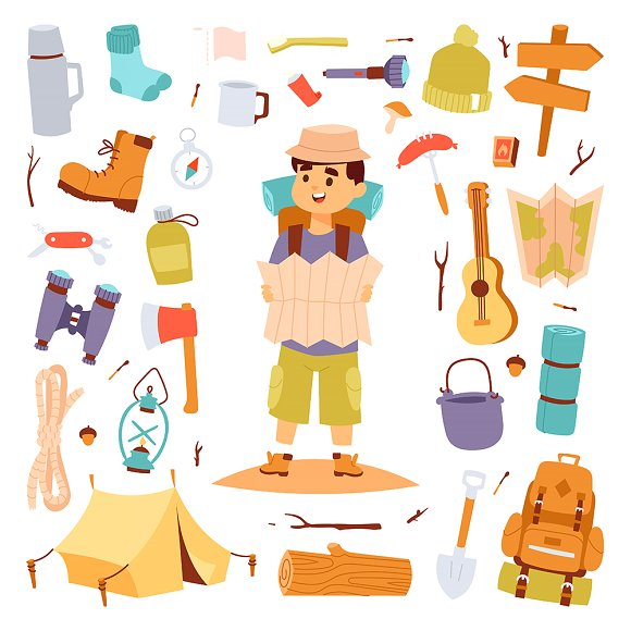 Camping Outdoor Travel Tourist Man