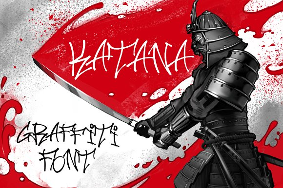 Katana Hip Hop Graffiti Font