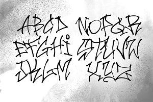 Katana - Hip Hop Graffiti Font