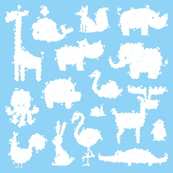 Animal Clouds Silhouette Vector
