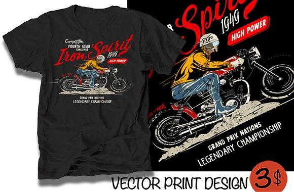 Vector Cafe Racer Rider Illustration