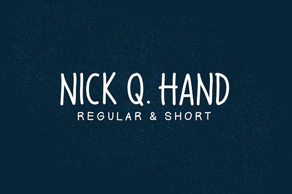Nick Q Hand Font