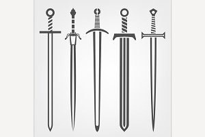 Medieval Sword Icons