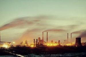 Vintage industrial landscape