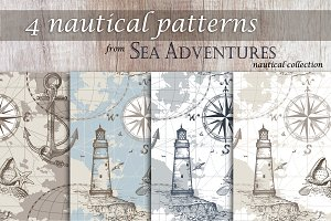 4 Nautical Patterns