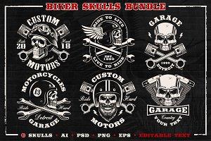Biker skulls Bundle